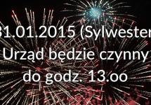 31.01.2015 Urząd czynny do godz. 13.oo