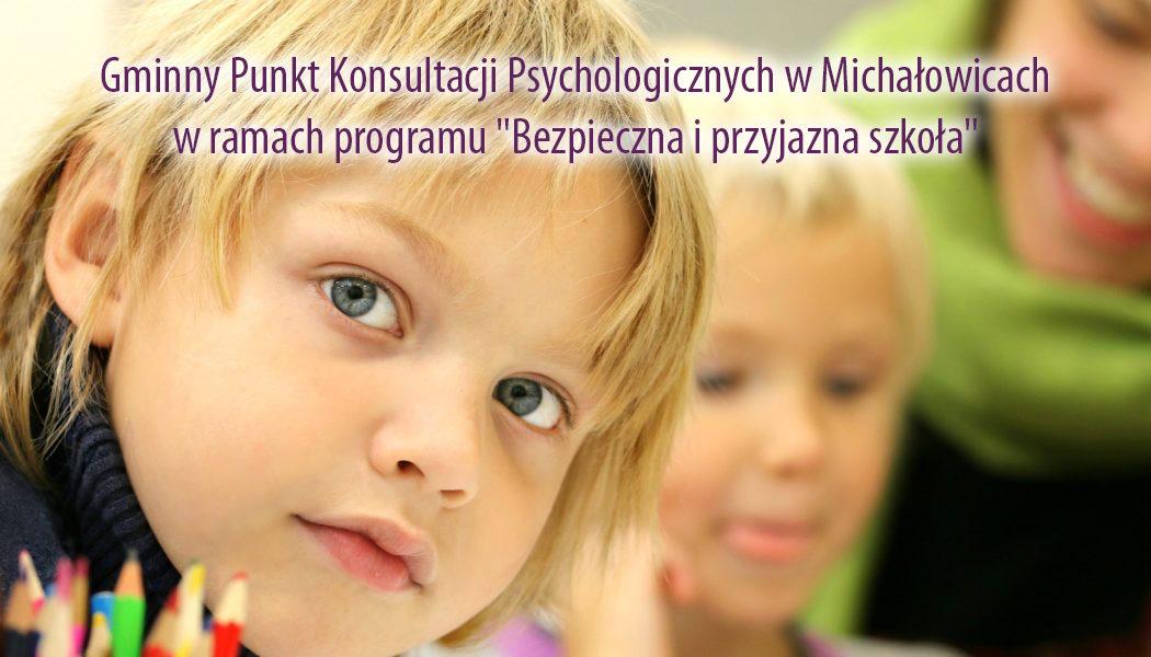 """Dyżur Gminnego Punktu Konsultacji Psychologicznych w Michałowicach w ramach programu """"Bezpieczna i przyjazna szkoła"""""""