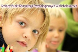 Gminny Punkt Konsultacji Psychologicznych w Michałowicach rusza od  22 marca  2017r.