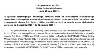 Zarządzenie Nr 321/2017 Wójta Gminy Michałowice z dnia 12 maja 2017 r.