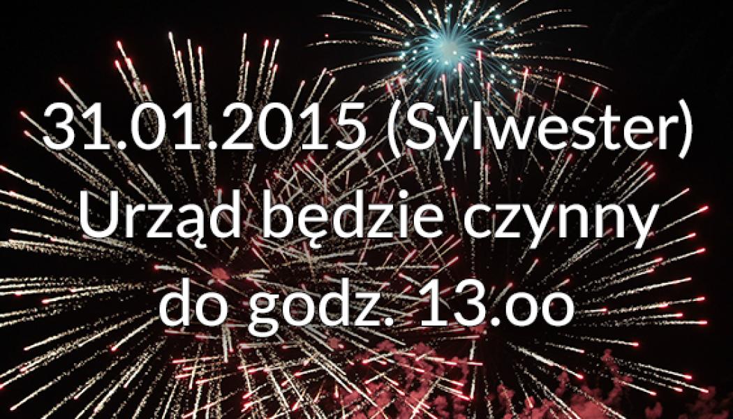 31.01.2015 Urząd czynny dogodz.13.oo