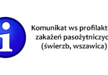 Komunikat ws profilaktyki zakażeń pasożytniczych (świerzb, wszawica)