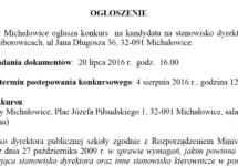 Ogłoszenie – Konkurs na dyrektora ZS w Raciborowicach