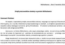 Strajk pracowników oświaty w gminie Michałowice